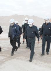 بازدید از معدن سنگ آهک سرآسیاب کرمان